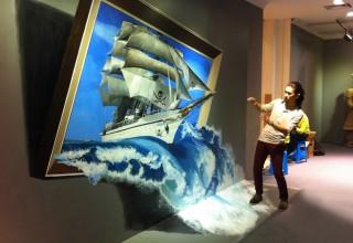 3D画手绘–帆船手绘