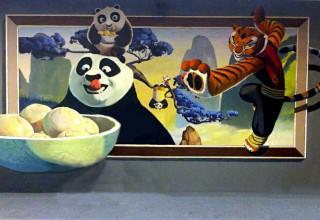 3D画手绘–功夫熊猫