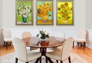 梵高玫瑰花原版现–代客厅装饰画