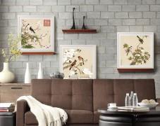 余稚花鸟图原版–餐厅装饰画