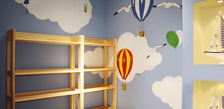 儿童房手绘–梦想天地