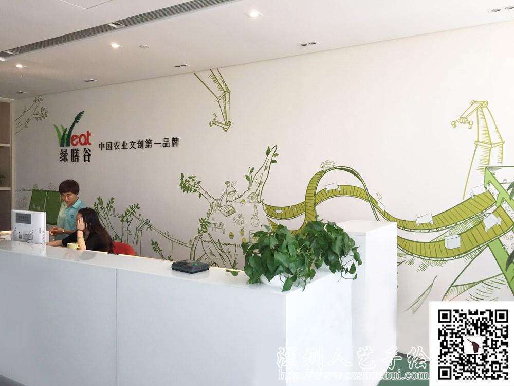 公司背景墙手绘,20151009105042