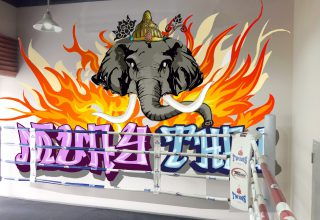 泰拳馆壁画手绘