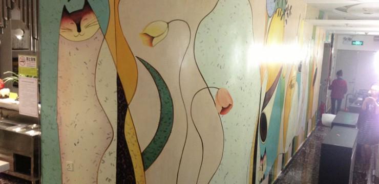 餐厅主题手绘墙