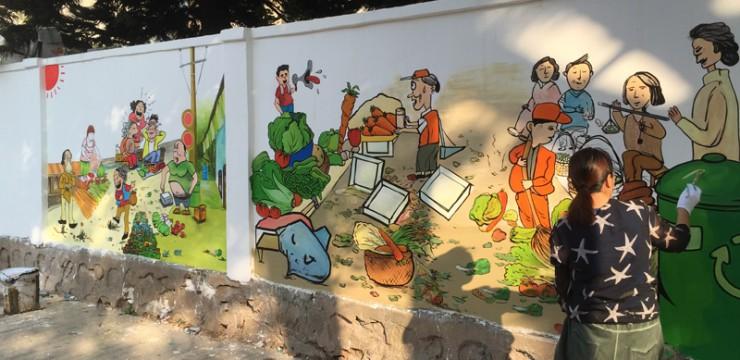 新牛社区街道外墙手绘