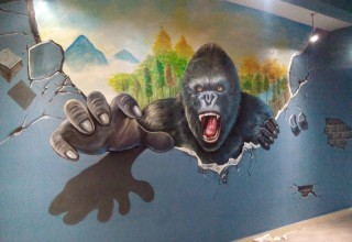 惠州电影院3D壁画手绘