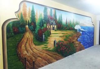 样板房手绘墙