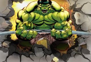 健身房3D绿巨人手绘