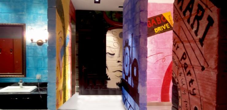 健身房室内壁画手绘