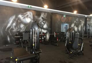 健身房手绘壁画–健身房涂鸦–壁画彩绘