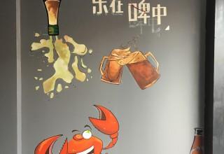 烧烤吧壁画手绘–墙画手绘–饭店壁画手绘