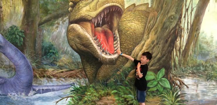 3D丛林手绘壁画–3D壁画手绘–墙画手绘