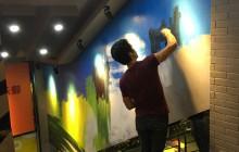 健身房手绘壁画–天形健健身房手绘涂鸦壁画
