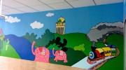深圳上塘道社康中心手绘壁画–室内手绘壁画–卡通画手绘
