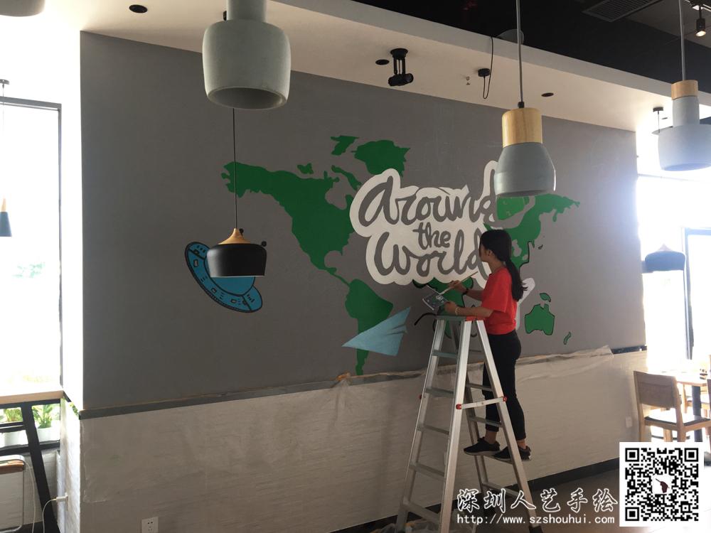 餐厅壁画手绘 (3)