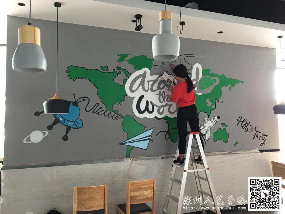 餐厅壁画手绘 (4)
