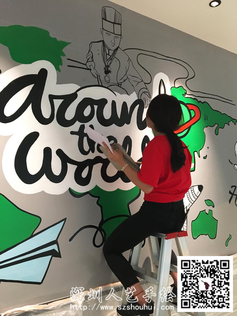 餐厅壁画手绘 (5)